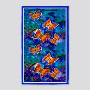 Wax Relief Butterflies 3X5 Area Rug