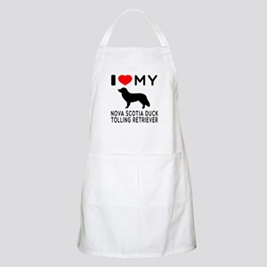 I Love My Nova Scotia Duck Tolling Retriever Apron