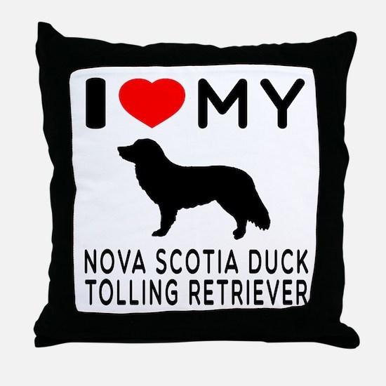 I Love My Nova Scotia Duck Tolling Retriever Throw