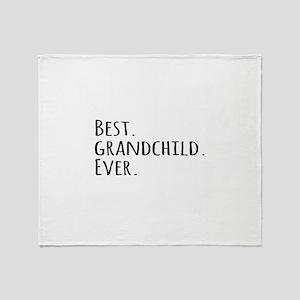 Best Grandchild Ever Throw Blanket