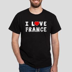 I Love France Dark T-Shirt