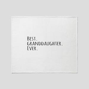 Best Granddaughter Ever Throw Blanket