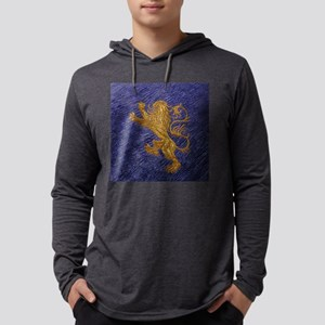 Rampant Lion - gold on blue Long Sleeve T-Shirt