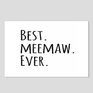 Best Meemaw Ever Postcards (Package of 8)