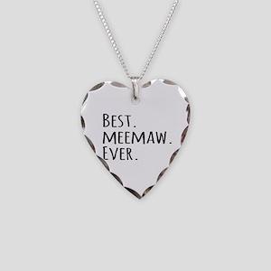 Best Meemaw Ever Necklace Heart Charm