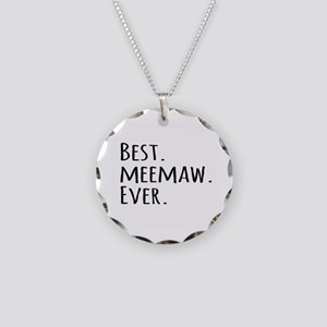 Best Meemaw Ever Necklace Circle Charm