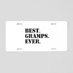 Best Gramps Ever Aluminum License Plate