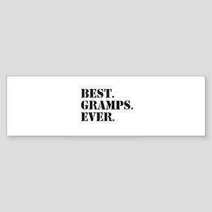 Best Gramps Ever Bumper Sticker