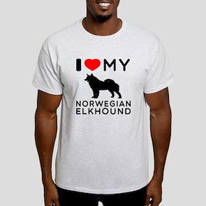 I Love My Norwegian Elkhound Light T-Shirt