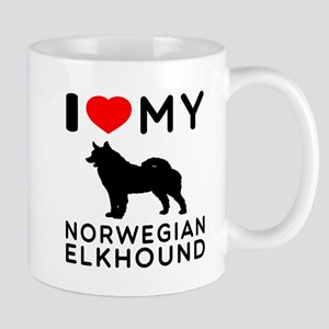 I Love My Norwegian Elkhound Mug