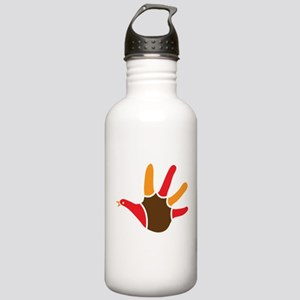Cute Turkey handprint Sports Water Bottle