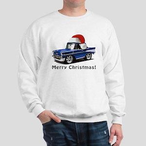 BabyAmericanMuscleCar_57BelR_Xmas_Blue Sweatshirt