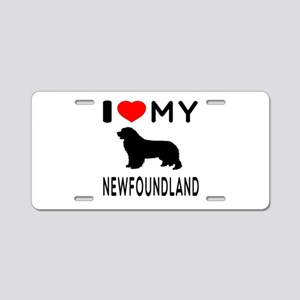 I Love My Newfoundland Aluminum License Plate