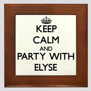 Keep Calm and Party with Elyse Framed Tile