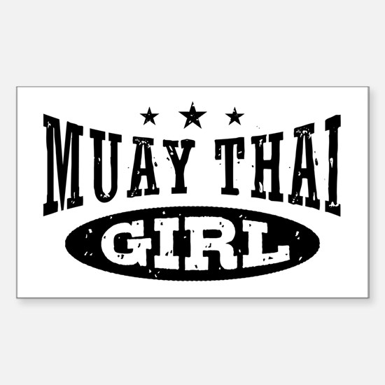 Muay Thai Girl Sticker (Rectangle)