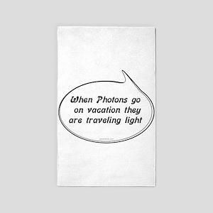 Photon Pun 3'x5' Area Rug