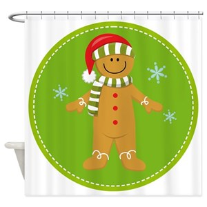 Gingerbread Boy Shower Curtains