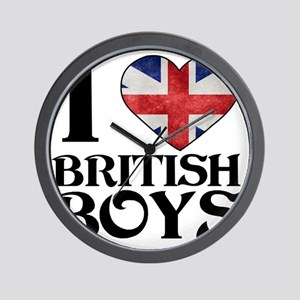 I Love British Boys Wall Clock