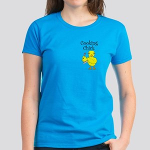 Cooking Chick Text Women's Dark T-Shirt