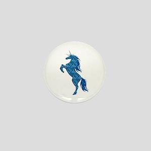 Blue Fire Unicorn Mini Button
