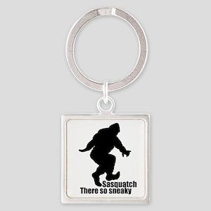 Sneaky Sasquatch Square Keychain