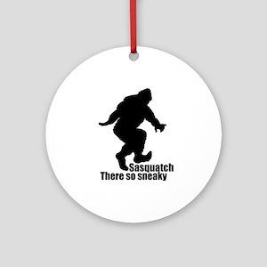 Sneaky Sasquatch Ornament (Round)