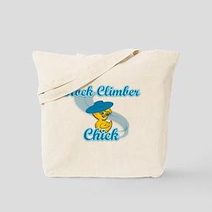Rock Climber Chick #3 Tote Bag