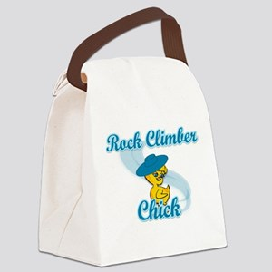 Rock Climber Chick #3 Canvas Lunch Bag