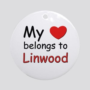 My heart belongs to linwood Ornament (Round)