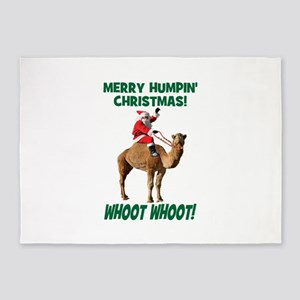Merry Humpin Christmas Santa Hump Day Camel 5'x7'A