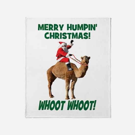 Merry Humpin Christmas Santa Hump Day Camel Throw