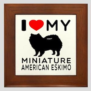 I Love My Miniature American Eskimo Framed Tile