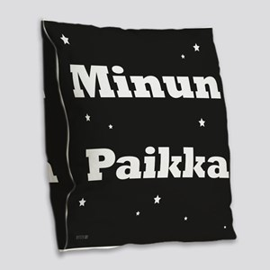 My Spot In Finnish Burlap Throw Pillow