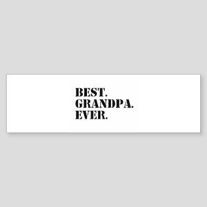 Best Grandpa Ever Bumper Sticker