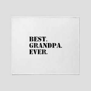 Best Grandpa Ever Throw Blanket