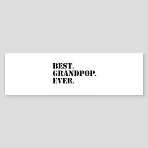 Best Grandpop Ever Bumper Sticker