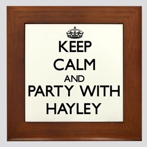 Keep Calm and Party with Hayley Framed Tile