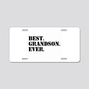 Best Grandson Ever Aluminum License Plate