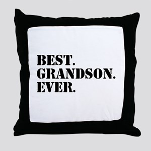 Best Grandson Ever Throw Pillow