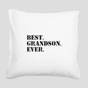 Best Grandson Ever Square Canvas Pillow