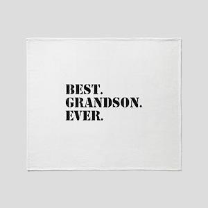 Best Grandson Ever Throw Blanket