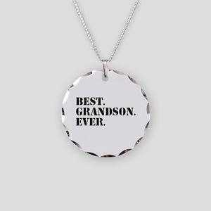 Best Grandson Ever Necklace Circle Charm