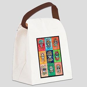 Canvas Lunch Bag Sugar Skulls 9