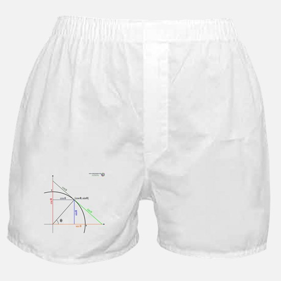 Trig. Functions as Lengths Boxer Shorts