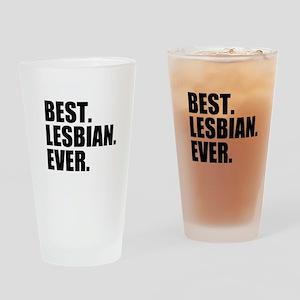 Best Lesbian Ever Drinking Glass