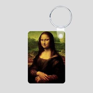Mona Lisa Aluminum Photo Keychain