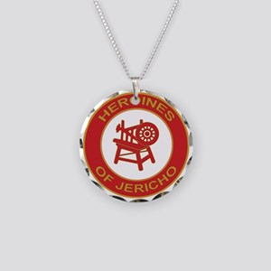 Heroines of Jericho Necklace Circle Charm