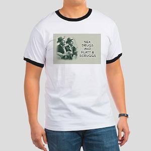 Ash Grey Bluegrass T-Shirt: Sex, Drugs, Flatt & S