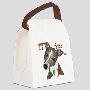 Italian Greyhound ti amo Canvas Lunch Bag