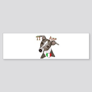 Italian Greyhound ti amo Sticker (Bumper)